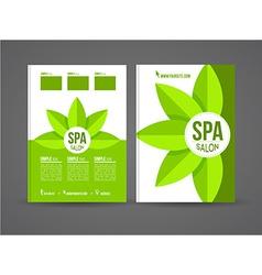 Spa salon brochure vector image