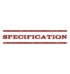 Specification Watermark Stamp vector