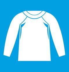 Sports jacket icon white vector