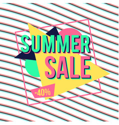 summer sale banner for online shopping with vector image