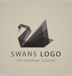 Swan logo sign emblem-20 vector