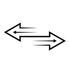 Transfer exchange arrows contour icon isolated vector