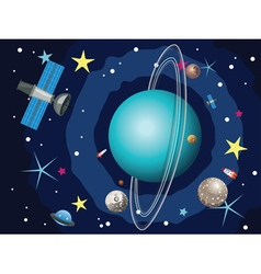 Uranus Planet in the Space vector image