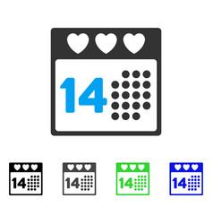 Valentine love day flat icon vector