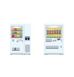 vending machine with snacks and beverages vector image