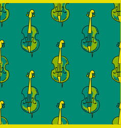 violin seamless pattern vector image