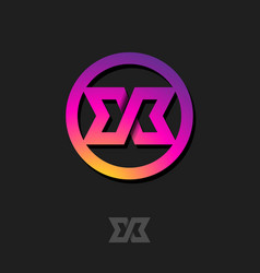 X monogram logo or icon design vector