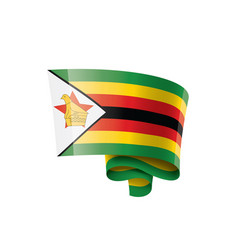 zimbabwe flag on a white vector image