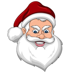 Angry Santa Claus Face Side View vector image vector image