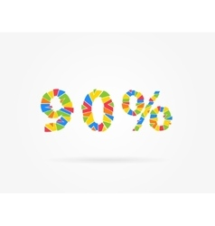 Discount 90 percent vector image vector image