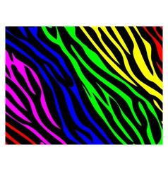 Rainbow zebra print vector image vector image