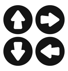 Arrow set icon simple style vector image