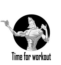 Athlete cartoon theme vector image vector image