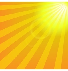 Bright yellow sun with rays abstract travel vector image
