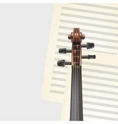 violin neck vector image