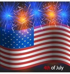 4th of july background Independence Day vector image