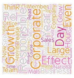 Business Growth Requires Individual Effectiveness vector image vector image