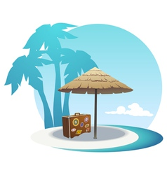 Island coast vector image