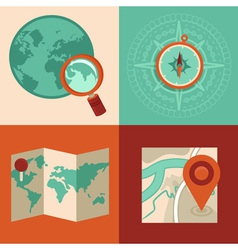 map set vector image vector image