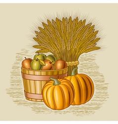 Retro harvest still life vector image vector image