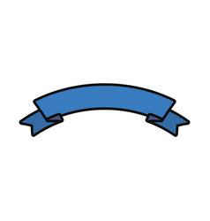 ribbon blue vector image