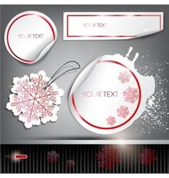 set of winter bubbles stickers labels tags illustr vector image