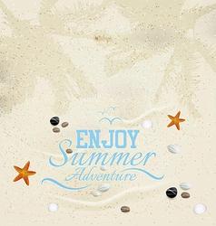 summer sand background vector image