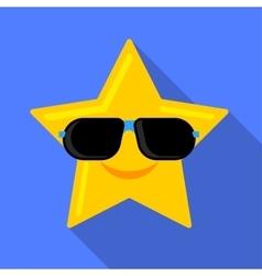 Sun in glasses icon vector image vector image