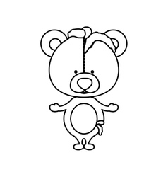 Toy teddy bear damaged design vector image