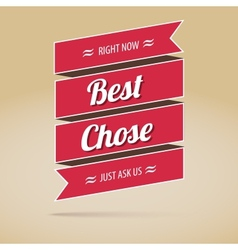 Best chose poster vector image vector image