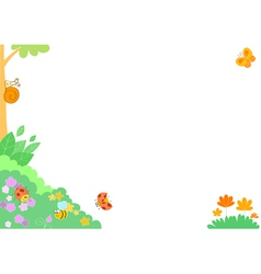 cute cartoon insects frame vector image