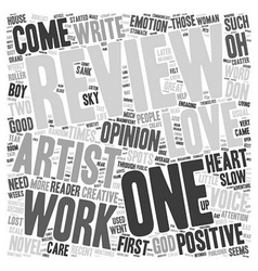 How to survive a good review text background vector