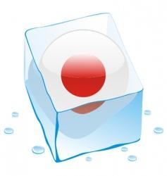 Japan flag vector image vector image