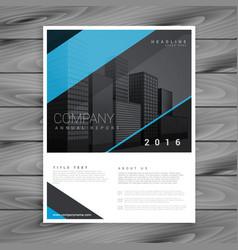 minimal style blue brochure template design vector image vector image