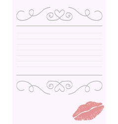 Romantic stationery vector image vector image