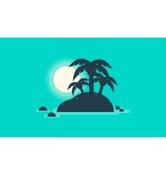 Silhouette of beautiful islands landscape vector image vector image