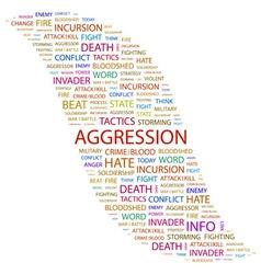 AGGRESSION vector image