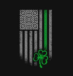 American celtic flag st patrick day vector