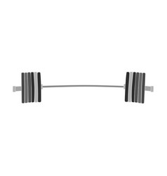 Barbell powerlifting weight plates vector