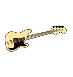 bass guitar logo vector image