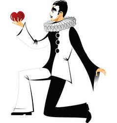Black and white clown vector image vector image