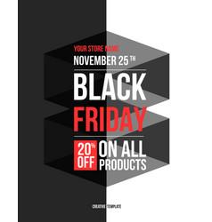black friday sale design template vector image