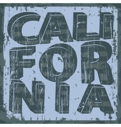 California typography stamp t-shirt graphics vector image