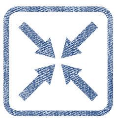 center arrows fabric textured icon vector image