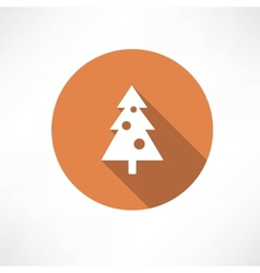 Christmas tree with toys icon vector
