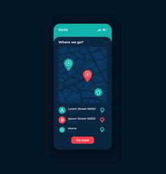 City transport navigation app smartphone vector