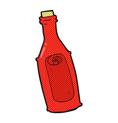 Comic cartoon message in bottle vector
