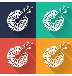 Concept dandelion in flat design vector