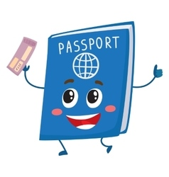 Cute and funny passport identity document vector image