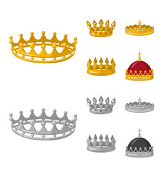 Design of medieval and nobility symbol set vector